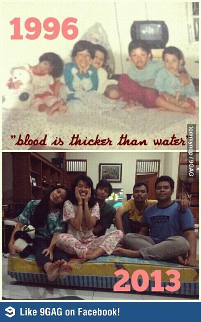 kumpulan foto masa kecil vs masa dewasa yang lucu dan
