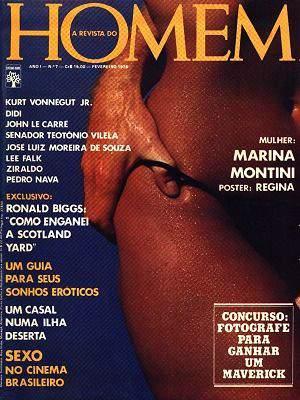 Confira as fotos de Marina Montini, Capa da REvista Homem de Fevereiro de 1976!