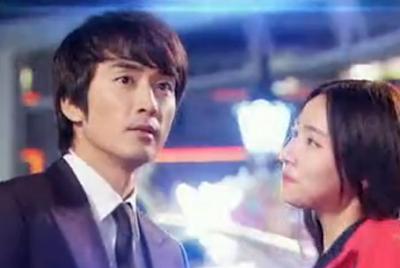 Han Tae Sang and Seo Mi Do at the amusement park.