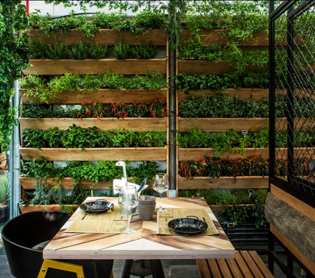 Laostudio segev kitchen garden restaurant for Garden cafe designs