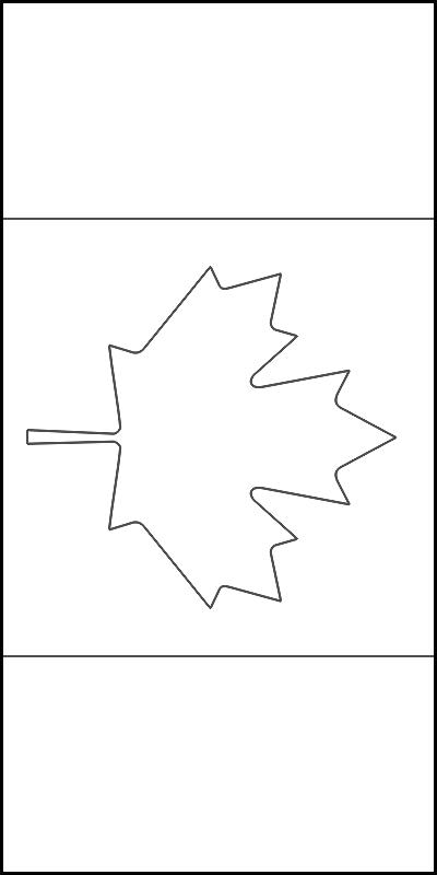 colorear bandera de Canada para imprimir