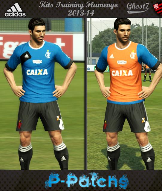Kits Training Flamengo V2 2013/14 - PES 2013