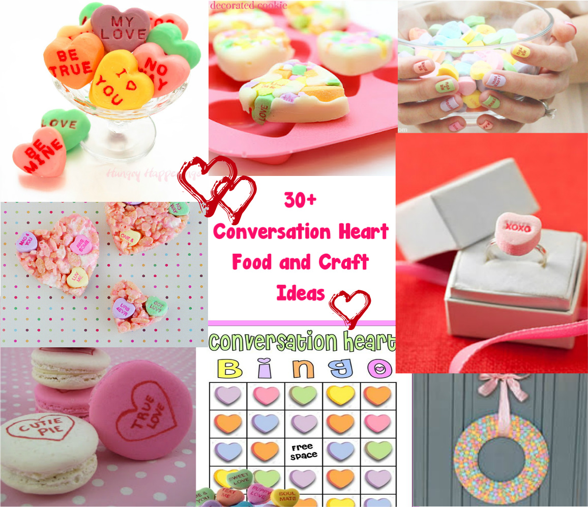 Cute Food For Kids 30 Conversation Heart Food And Craft Ideas