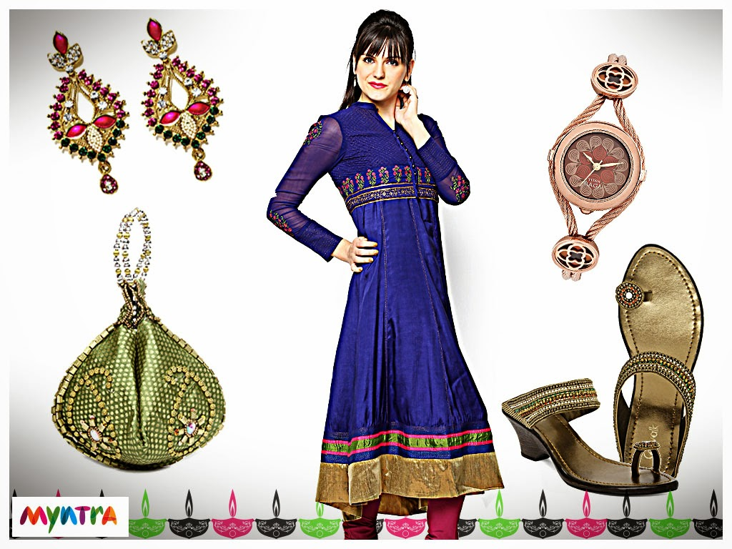Myntra, Wishful by W, ethnic look, festive look, diwali, ethnic wear