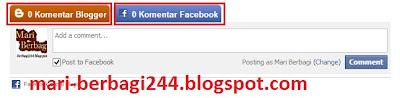Cara Membuat Komentar Blog Bersebelahan Dengan Komentar Facebook