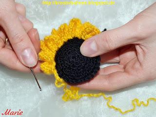 Sonnenblume Häkelanleitung