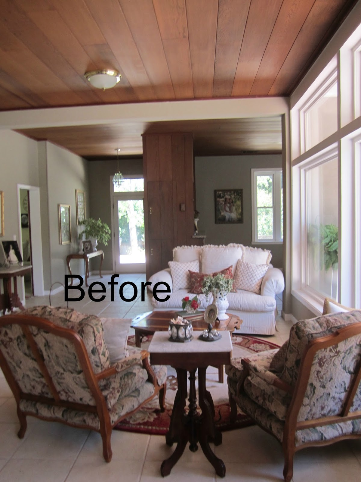 Two Loveseats In Living Room Classic O Casual O Home Ranch House Living Room Before And After