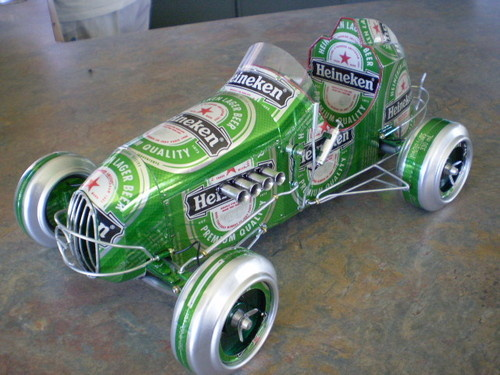 Car Made From Beer Cans