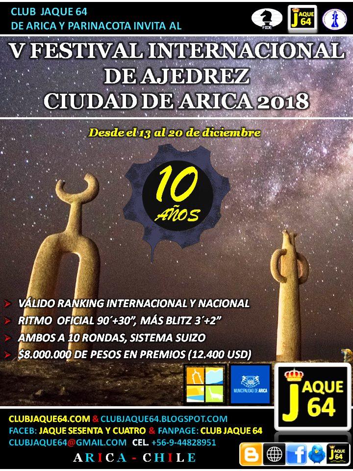 V FESTIVAL INTERNACIONAL DE AJEDREZ CIUDAD DE ARICA 2018