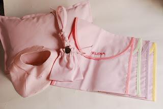 Conjunto regalo bebé en piqué rosa poliéster algodón