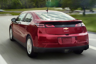 2013 Chevrolet Volt rear view red