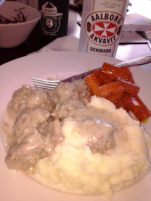 Swedish Meatballs:  Tender and delicious meatballs in a creamy gravy.  I literally licked my plate clean.