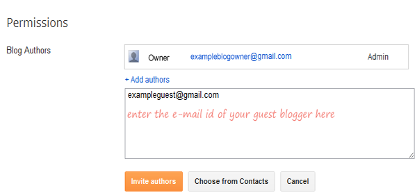 Enter the E-mail Address of The Guest Author