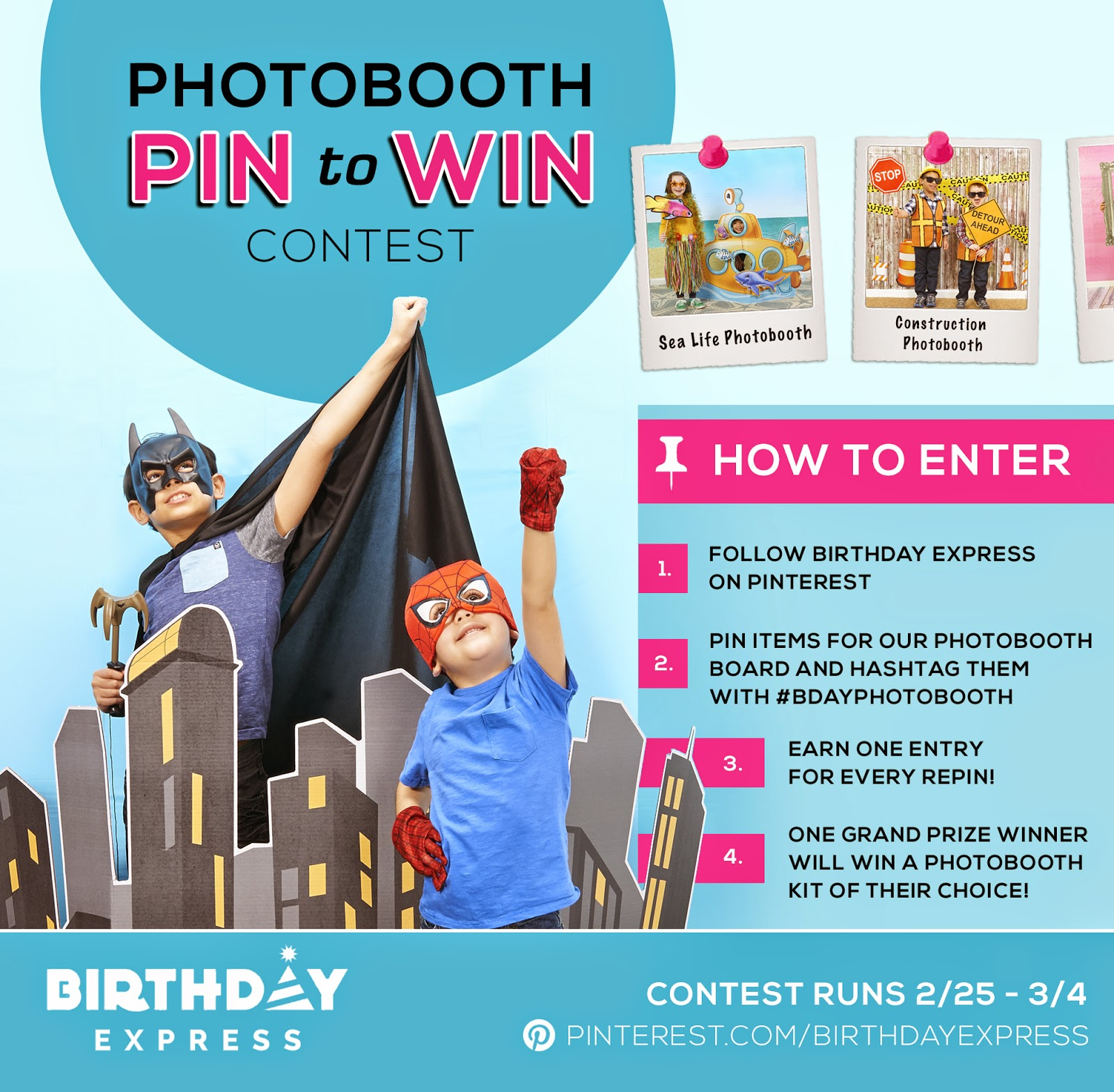 Pin to Win! Photobooth for a Party! Giveaway