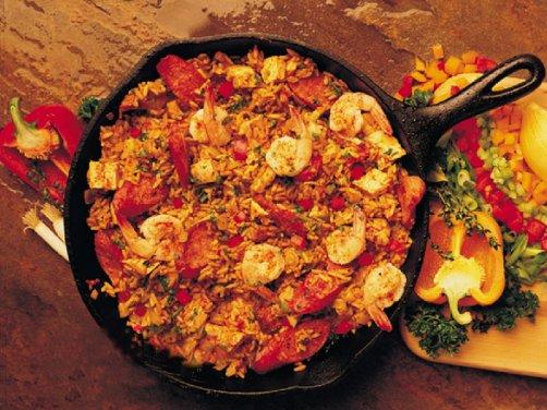 ... é simplesmente conhecido como jambalaya cajun jambalaya sem tomate