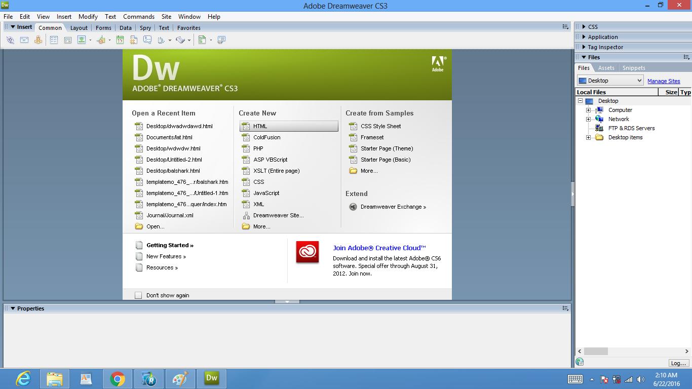 Dreamweaver - программа для создания интернет сайтов