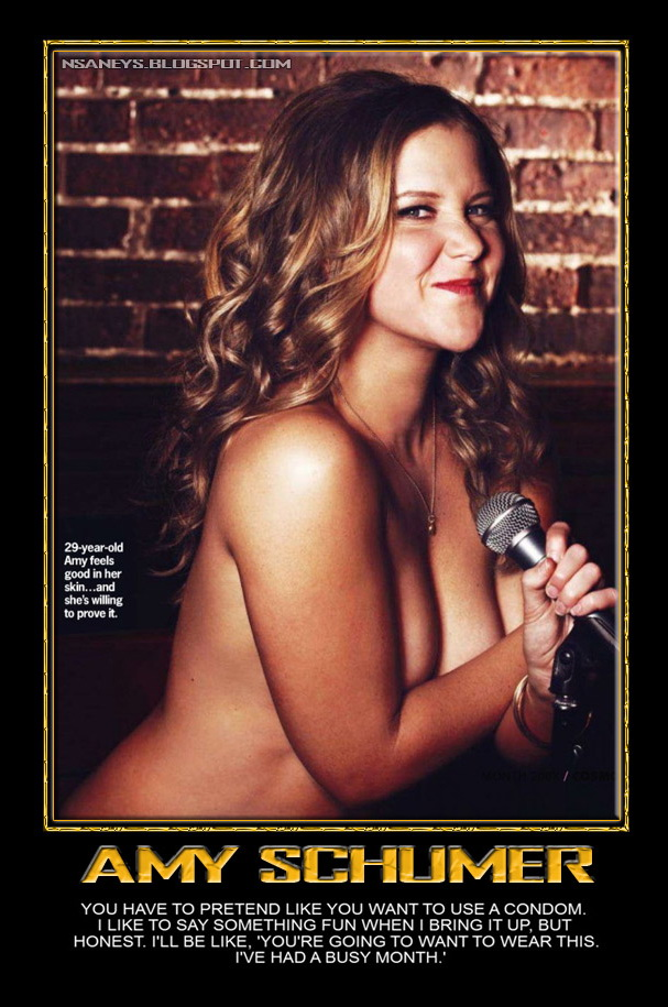 nsaney z posters ii amy schumer condoms