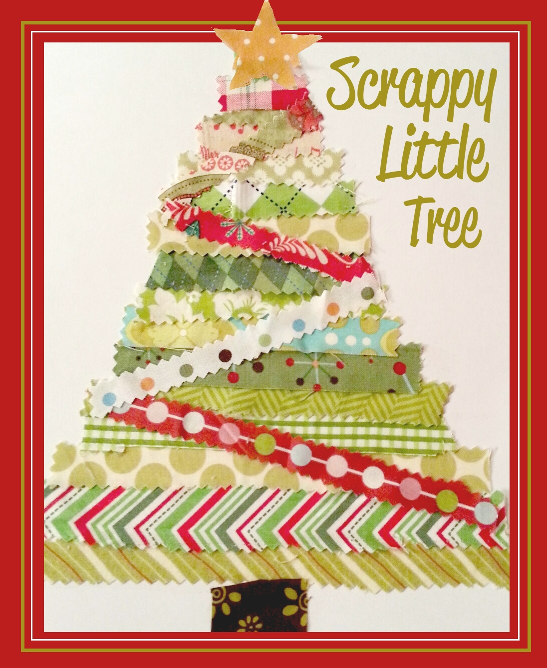The Little Fabric Blog Scrappy Little Christmas Tree Tutorial