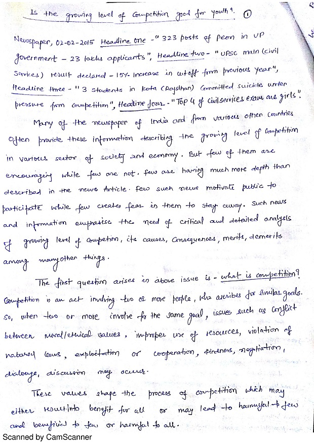 Middle School Descriptive Writng Essay Samples