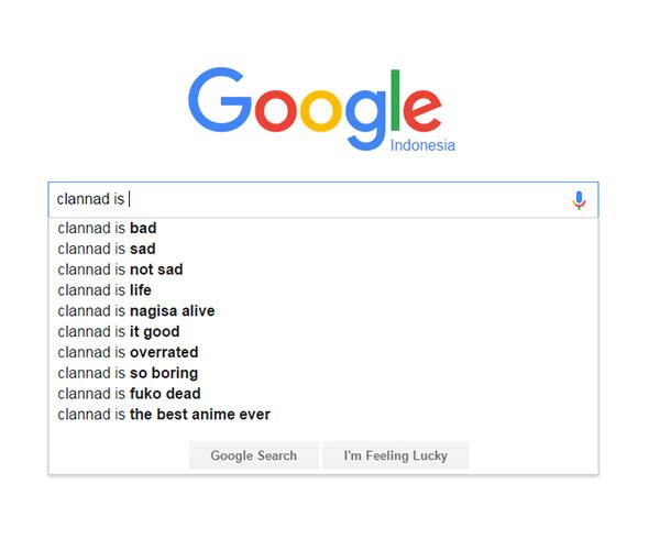 Clannad - score/nilai dari Google