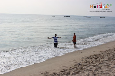 playing in Indian ocean near Dhanushkodi