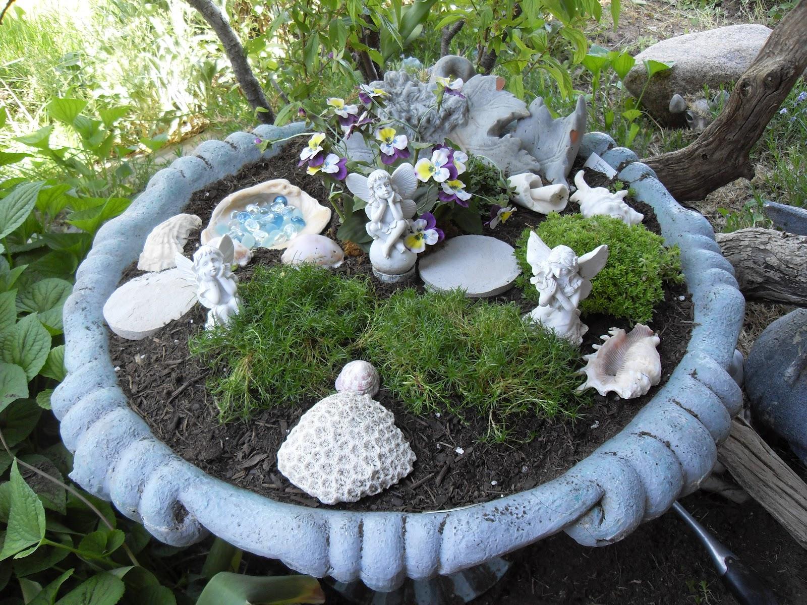 heart song fountain fairy garden