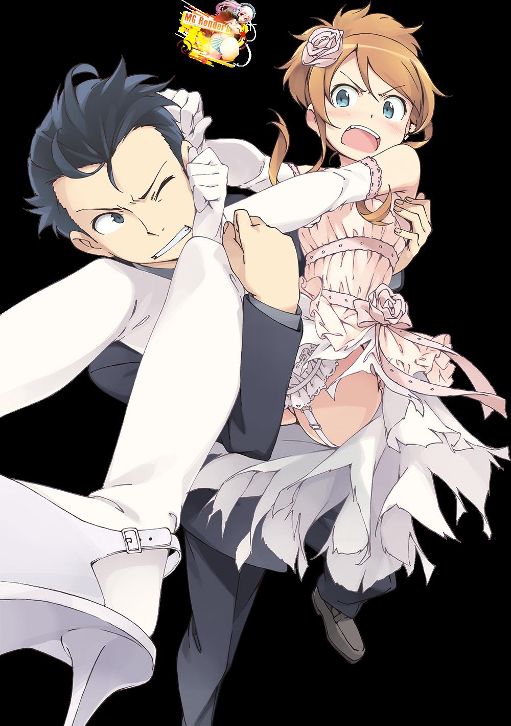 Tags: Anime, Render,  Kousaka Kirino,  Kousaka Kyousuke,  Ore no Imouto ga Konna ni Kawaii Wake ga Nai,  PNG, Image, Picture