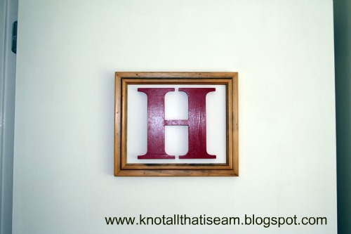 Kids Framed Letter Door Art