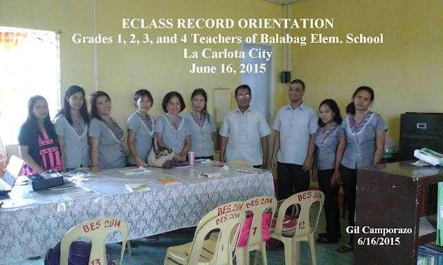 Balabag Elem. School, La Carlota City EClass Record Orientation