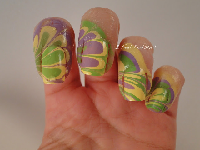 Glue Method for Water Marbling