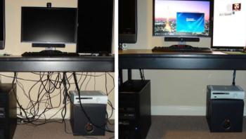 Come nascondere i cavi di computer e tv for Ikea coprifili