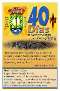 CAMUY, PUERTO RICO, USA: 40 DIAS DE AYUNO Y ORACION-CIERRE ACTIVIDAD CAMUY ORA