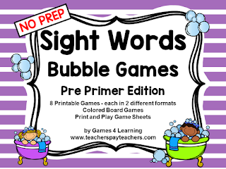https://www.teacherspayteachers.com/Product/Sight-Words-2081022
