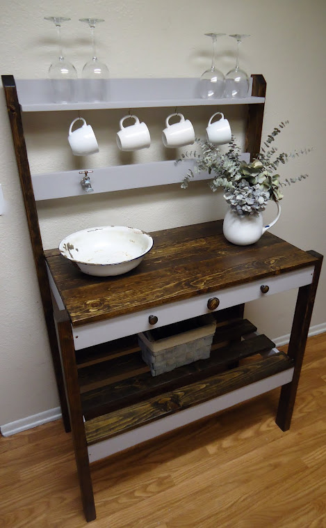 Rustic with a Modern Flair Accent Table - SOLD