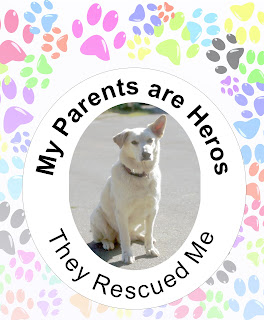 Personalized Rescue Dog Garde Flag