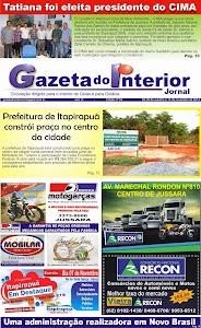 VEJA A EDIÇÃO Nº 54 DO JORNAL GAZETA DO INTERIOR