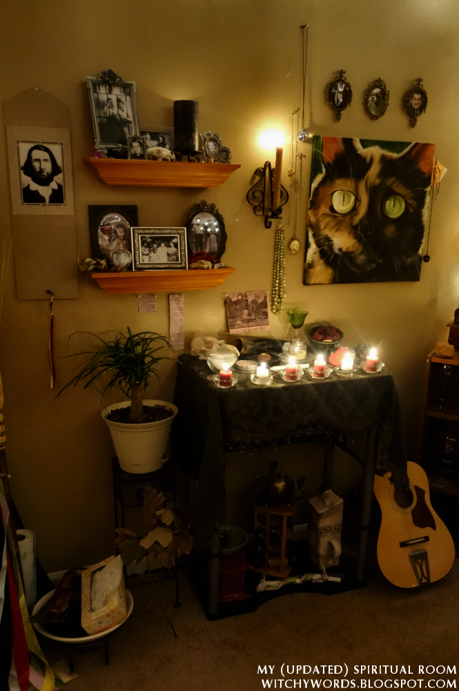 Witchy words my updated spiritual room for Spiritual bedroom designs