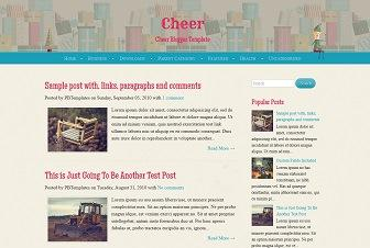 Cheer Blogger Templates
