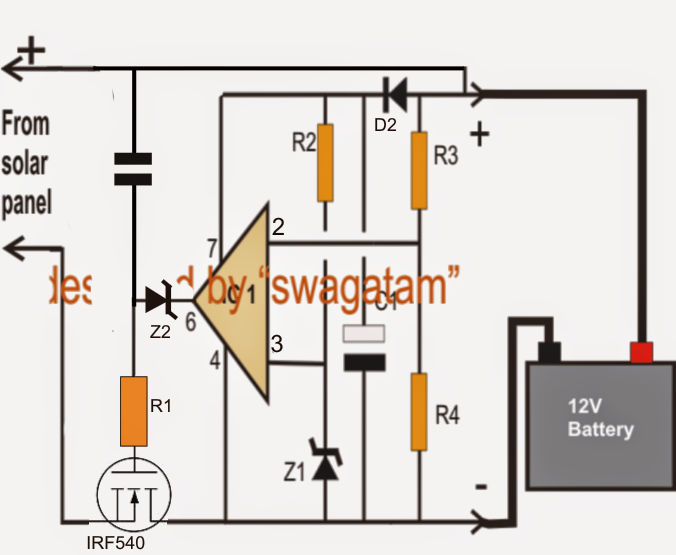 solar charger circuit diagram for battery charger solar zero drop solar charger circuit out microcontroller on solar charger circuit diagram for battery charger
