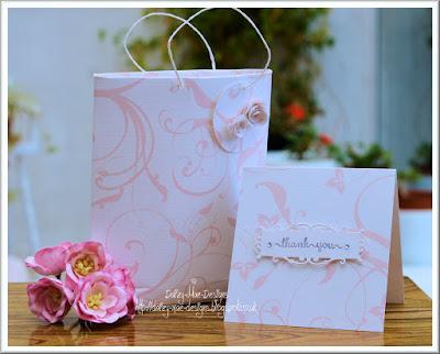 Blossom, bag, card, CAS,pink