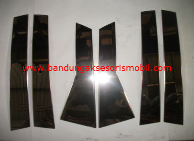 Pilar Depan Tengah Belakang 6 pcs All New CRV2 (2013) Import Stainless