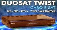 NOVA ATUALIZAÇÃO DUOSAT TWIST - KEYS DUPLA HISPASAT 30Wº E AMAZONAS 61Wº - (TESTEM) - 21/12/2014.