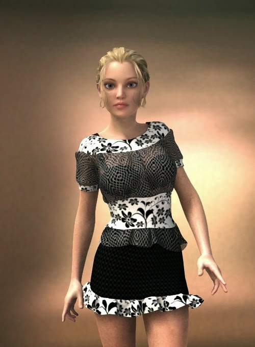 3d Models - Glam Party Ensemble for Genesis 2 Female(s)