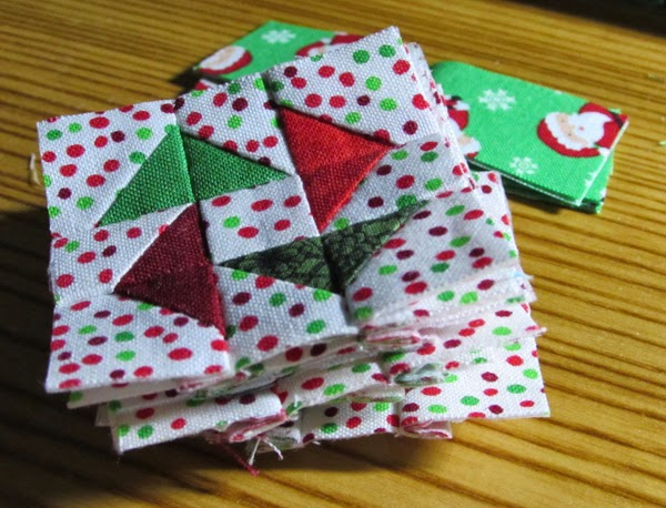 holiday 9-patch quilt blocks