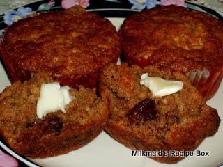 Whole Wheat Oatmeal Fruit Muffins