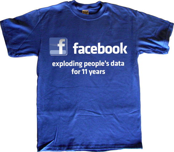 facebook social network privacy freedom internet 2.0 useless CEOs useless economics t-shirt ephemeral-t-shirts
