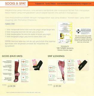Info & Harga Twin Tulip Lingerie 2014 : Socks (Kaus Kaki) | Spat (Legging) - Romance Chezreine