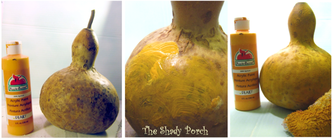 Gourd Painting process with #acrylicpaint #gourds #decorating #art #paint