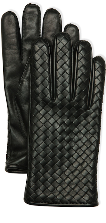 Bottega Veneta Men's Leather Gloves,