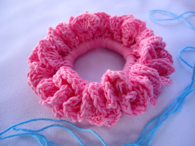 Crocheted Hair Scrunchie - Learn how to crochet